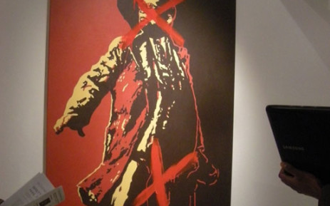 'The Spear' defaced. Picture: Gareth Brown/iWitness