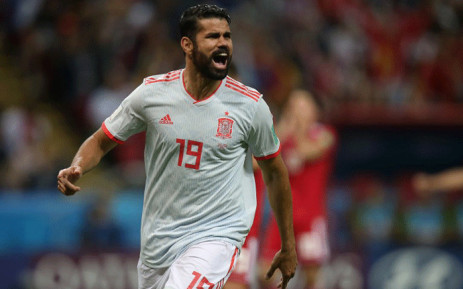 Spain's forward Diego Costa celebrates his goal during the Russia 2018 World Cup Group B football match between Iran and Spain at the Kazan Arena in Kazan on 20 June, 2018. Picture: AFP.