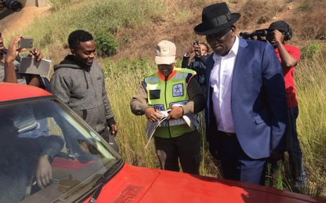 Police Minister Bheki Cele in Tshwane. Picture: Christa EybersEWN.