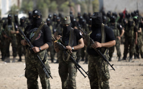 Hamas has an estimated 20,000 fighters, with another 20,000 in its police and security forces. Picture: AFP.