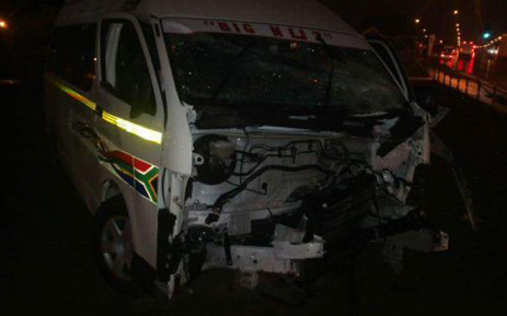 AZ Berman Drive in Mitchells Plain has been closed at Highlands Drive heading towards Cape Town Centre, following a taxi accident where one man has died on 28 May 2015. Picture: MRJ @eyesatu.