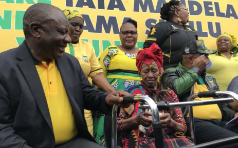 President Cyril Ramaphosa (left) along with other ANC leaders are on a Thuma Mina weekend in the Eastern Cape. Picture: @MYANC/Twitter