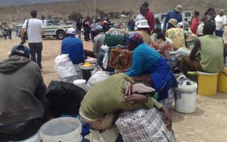 Displaced foreign nationals in De Doorns. Picture: Giovanna Gerbi/Eyewitness News