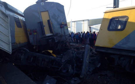 Emergency services treat commuters at the Denver station south east of Johannesburg where two trains collided on 28 April 2015. Picture: ER24.