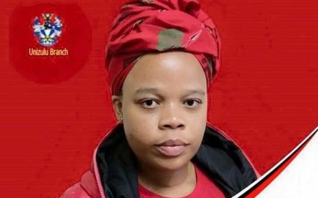 EFFSC's UniZulu SRC presidential candidate, Nonceba Mhlauli. Picture: @Hlengiwe44Maxon/Twitter