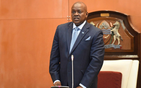 Botswana's new President Mokgweetsi Masisi speaks after taking the oath as the 5th President at the National Assembly in Gaborone on 1 April 2018. Picture: AFP.
