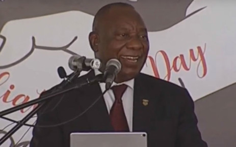 A screengrab of President Cyril Ramaphosa addressing a Reconciliation Day gathering in Mthatha, in the Eastern Cape on 16 December 2018.
