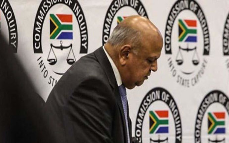 Public Enterprises Minister Pravin Gordhan appears at the commission of inquiry into state capture on 19 November 2018. Picture: Abigail Javier/EWN
