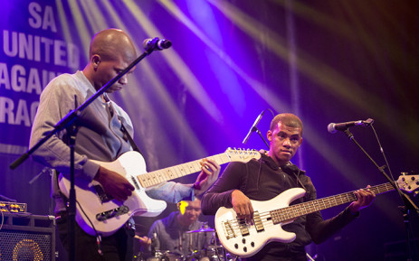 Mark Willams (L) and Charlton Daniels from Top Dog at the Cape Town International Jazz Festival. Picture: Thomas Holder/EWN.