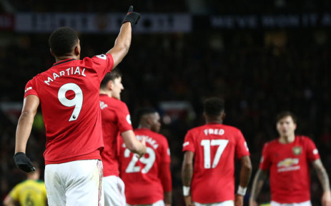Manchester United's Anthony Martial celebrates a goal. Picture: @ManUtd/Twitter