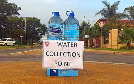 FILE: A written sign for water collection in Senekal, in the Free State. Picture: @ProudlySA.