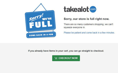 Takealot apologised to users after its website went down during Black Friday sales on 24 November 2017. Picture: takealot.com