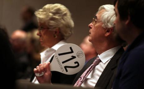 FILE: Auction. Picture: AFP.