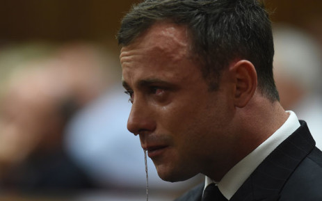 FILE: An emotional Oscar Pistorius in the dock as judgment is handed down in his murder trial at the High Court in Pretoria on Thursday, 11 September 2014. Picture: Pool.