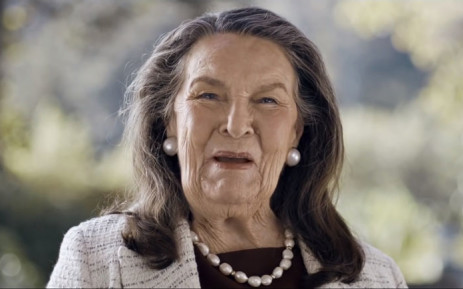 A screengrab of property magnate Pam Golding appearing in an advertisement.