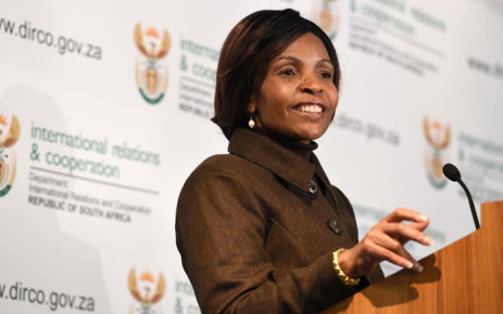 FILE: Minister of International Relations and Cooperation Maite Nkoana-Mashabane. Picture: Jacoline Schoonees