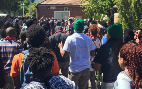 FILE: Stellenbosch University students during the Fees Must fall protests. Picture: Monique Mortlock/EWN.