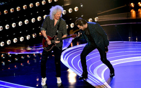 FILE: Adam Lambert (L) and Brian May of Queen perform onstage during the 91st Annual Academy Awards on 24 February 2019 in Hollywood. Picture: Getty Images/AFP