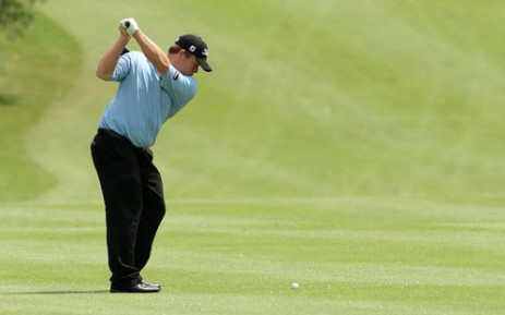 George Coetzee made light of stiffening breezes to sail up the British Open leaderboard on Friday. Picture: Facebook.