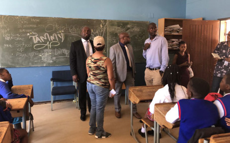 Tshwane Mayor Solly Msimanga visits the Klipspruit West High School on 9 January 2019. Picture: @SollyMsimanga/Twitter