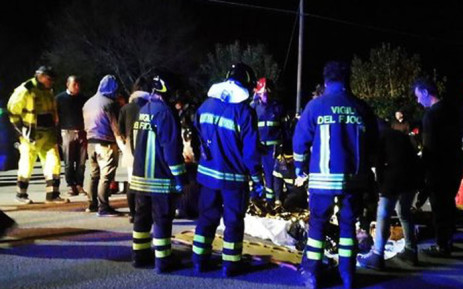 Six people die in a stampede at a nightclub near Ancona in central Italy. Picture: Twitter.