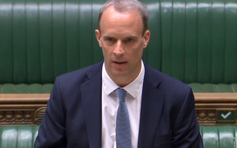 British Foreign Secretary Dominic Raab. Picture: AFP.