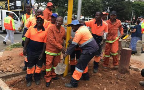 Johannesburg Mayor Herman Mashaba launches No Joint Traffic Light campaign. Picture: Kgothatso Mogale/EWN.