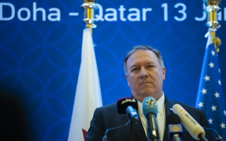 US Secretary of State Mike Pompeo holds a joint press conference with Deputy Prime Minister and Minister of Foreign Affairs Sheikh Mohammed bin Abdulrahman Al-Thani (not pictured) at the Sheraton Grand in the Qatqri cqpitql Doha on 13 January 2019. Picture: AFP