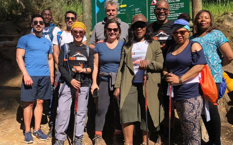 The Trek4Mandela team. Picture: Thuli Madonsela Foundation.