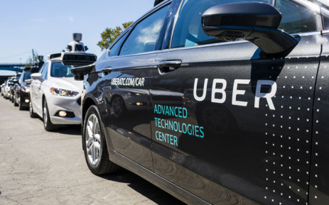 Pilot models of the Uber self-driving car is displayed at the Uber Advanced Technologies Center on September 13, 2016 in Pittsburgh, Pennsylvania. Uber launched a groundbreaking driverless car service, stealing ahead of Detroit auto giants and Silicon Valley rivals with technology that could revolutionize transportation. Picture: AFP