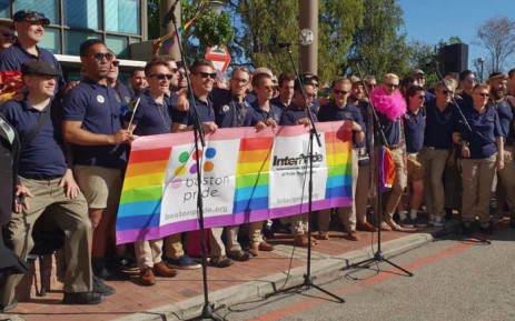 Boston Gay Men's Chorus performing in George during the town's first gay pride parade. Picture: Supplied by Snazo Gulwa, EdenFM.