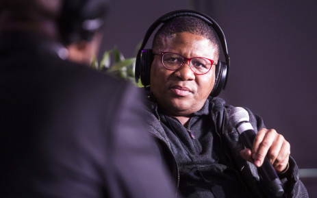 Sports Minister Fikile Mbalula speaking at a special transformation debate with Talk Radio 702's Xolani Gwala.  Picture: Thomas Holder/EWN
