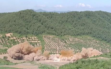 """FILE: Washington condemned the North's latest launch, calling it a """"threat"""" to Pyongyang's neighbours and the international community. Picture: Screengrab"""