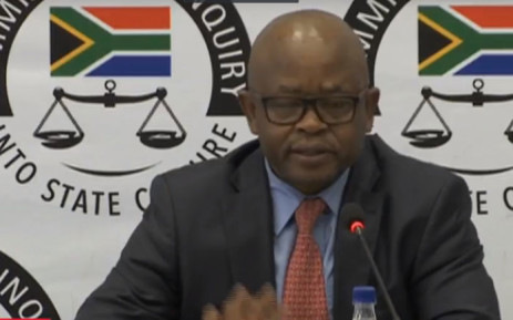 A screengrab of former GCIS CEO Themba Maseko giving testimony at the state capture commission of inquiry on 30 August 2018.