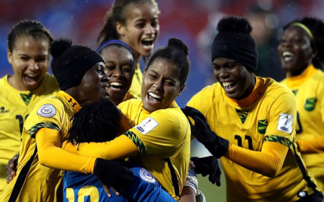 The Jamaican Women's World Cup team celebrates a win over Panama on 18 October 2018. Picture: Fifa