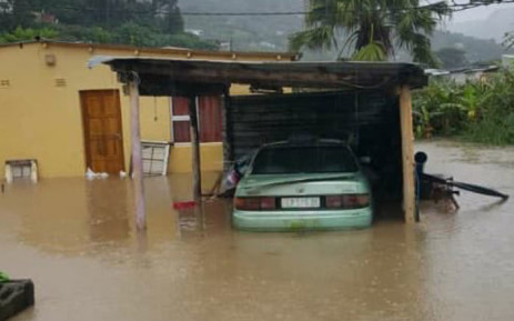 A home in Port St Johns after flooding hit after heavy rain in the area on 22 April 2019. Picture: @BantuHolomisa/Twitter