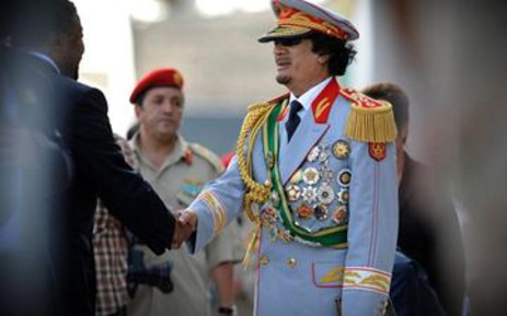 FILE: Libya's leader Muammar Gaddafi celebrates 40 years in power. Picture: Gallo Images/AFP