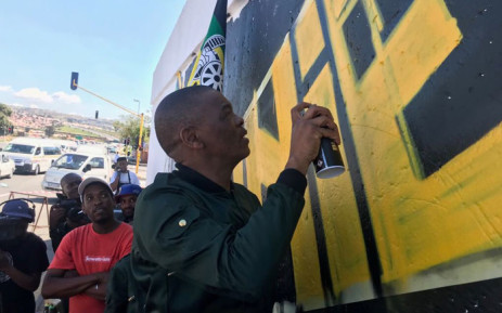 ANC secretary-general Ace Magashule launches the Winnie Madikizela-Mandela Murals programme on 7 April 2018. Picture: @MYANC/Twitter