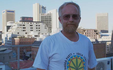Jeremy Acton of the Dagga Party. Picture: Renee de Villiers/EWN