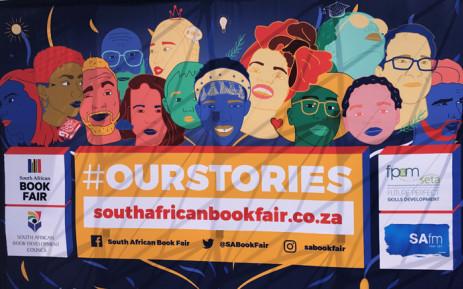 SA Book Fair banner in Newtown. Picture: Tebogo Tshwane/EWN