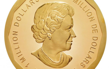 The coin, stolen from the bode Museum in Berlin, is made out of pure gold, weighs about 100 kilos and has a face value of around $1 million. Picture: smb.museum.