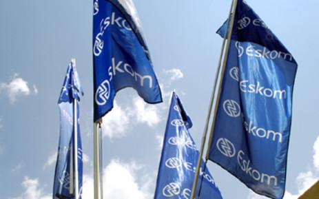 Eskom flags at Megawatt Park in Johannesburg. Picture: Taurai Maduna/Eyewitness News