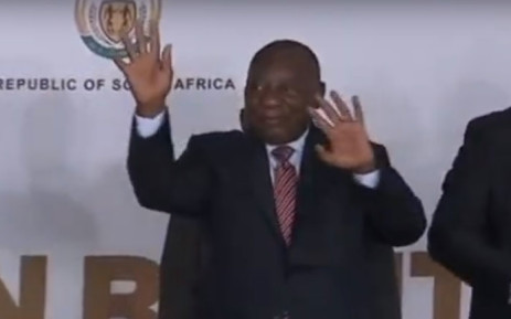 A screengrab of President Cyril Ramaphosa at the Human Rights Day event in Sharpeville on 21 March 2019.
