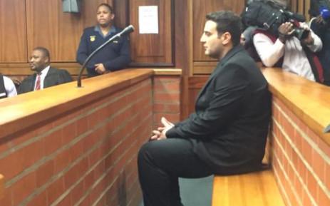 FILE: Christopher Panayiotou in the Port Elizabeth Magistrates Court. Picture: Siyabonga Sesant/EWN.
