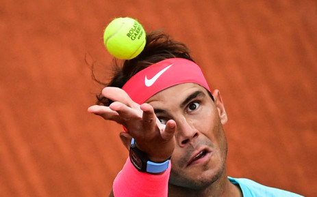 Spain's Rafael Nadal serves the ball to Belarus' Egor Gerasimov during their men's singles first round tennis match at the Philippe Chatrier court on Day 2 of The Roland Garros 2020 French Open tennis tournament in Paris on 28 September 2020. Picture: AFP