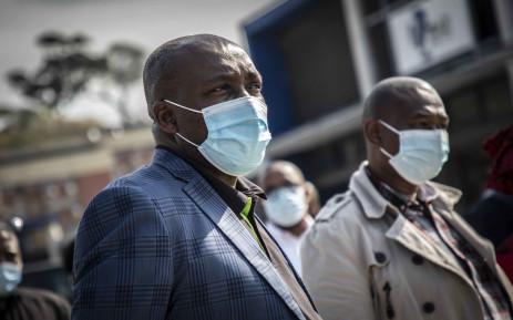 eThekwini Mayor Mxolisi Kaunda at Mega City Mall in Umlazi on 21 July 2021. Picture: Abigail Javier/Eyewitness News