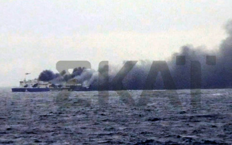 Hundreds still trapped on burning ferry off Greece