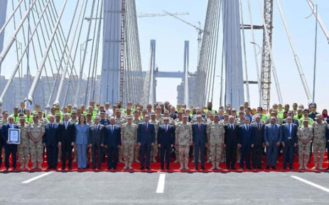 Egyptian President Abdel Fattah al-Sisi opens a suspension bridge over the Nile touted as the world's widest on 15 May 2019. Picture: @AlsisiOfficial/Twitter