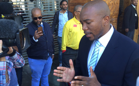 FILE: DA leader Mmusi Maimane speaks to the media ahead of the Constitutional Court's judgment on the Nkandla matter. Picture: Vumani Mkhize/EWN.