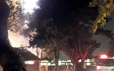 Smoke seen during a fire at Uitsig High School in Cape Town. Picture: Supplied